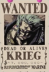 Krieg's Wanted Poster