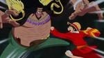 Luffy vs Teach Wake up!