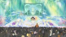 Prince Fukaboshi addresses residents