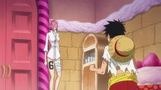 Reiju conversa con Luffy