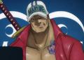 Sakazuki de joven en el anime