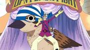 Lombric avec son oiseau