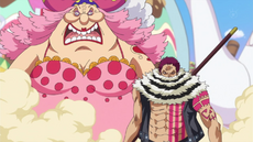 Katakuri protege a Big Mom