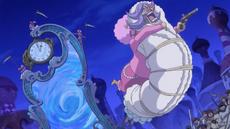 Pekoms captura a Brûlée para ayudar a Luffy