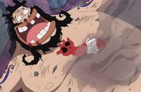 Accino derrotado por Luffy