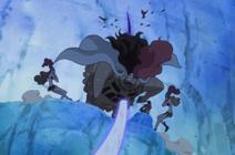 Gats transpercé par Doflamingo Anime