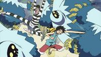 Luffy et Bonclay s'allient