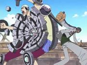 Gin détruit le mur de métal de Pearl