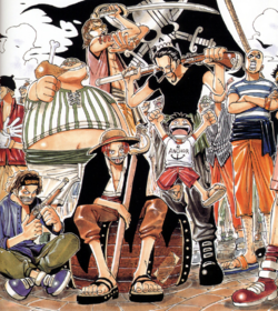 Luffy e os Piratas do Ruivo