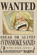 Sanji Wanted Poster