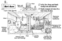 Going Merry's Men's Room Layout