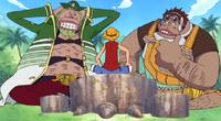 Luffy Befriends Masira and Shoujou