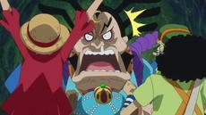 Raizo interactúa con los de Sombrero de Paja
