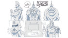 Anime Concept Art Статуя Кироса