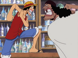Barbanegra y Luffy