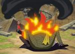 Barbe Noire utilise ses Ténèbres pour étouffer les Flammes