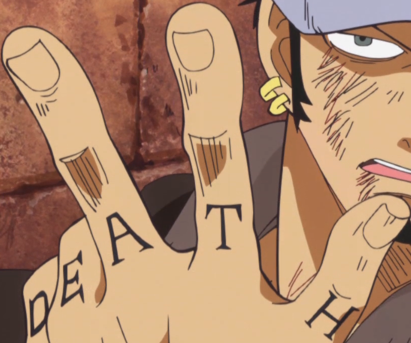 One Piece Hand Tattoo: Image - Law's Finger Tattoos.png