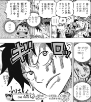 Luffy Angry at Beasts Pirates for Wasting Food