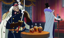 Shiliew and Laffitte on a Blackbeard Pirates Ship