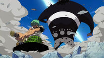 Zoro against Kuma