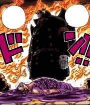 Luffy loses to Magellan