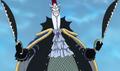 Moria utilisant ses ciseaux comme épées
