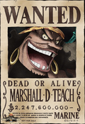 Cartel de recompensa de Marshall D. Teach