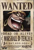 Cartel de recompensa de Marshall D. Teach