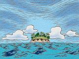 Départ de l'île