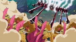 Luffy attaque Cracker