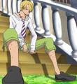 Primera vestimenta de Sanji en Strong World
