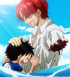 Shanks Saves Luffy