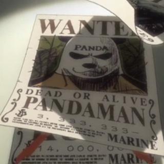 Il poster della taglia di Pandaman