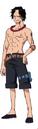 Concept Art d'Ace dans l'Anime