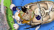 Foxy Dikalahkan oleh Luffy
