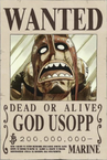 God Usopp's Wanted Poster