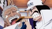 Sengoku Blames Garp For Luffy's Actions