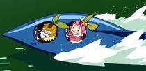 Kerojii and Keroko's Speedboat