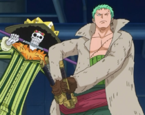 Brook and Zoro Prepared to Fight