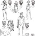 Charlotte Décuplés Fils Manga Concept Art