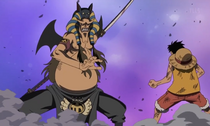 Hannyabal About to Fight Luffy
