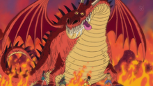 Strawhats encounter a Dwelling Dragon