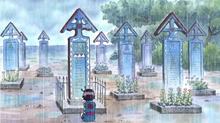 Kodama visite les tombes