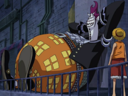Luffy enfrentando a Moriah