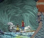 Luffy et Nami découvrent Apis et Ryuji