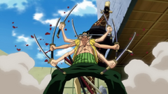 Zoro Defeating Kaku with Asura