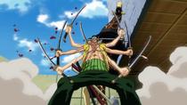 Zoro Defeating Kaku with Asura