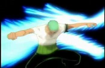 Зоро использует атаку Муторю