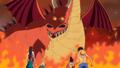 Les Mugiwara rencontrant le premier Dragon de Vegapunk