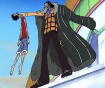 Luffy Defeated by Crocodile at Alubarna Palace